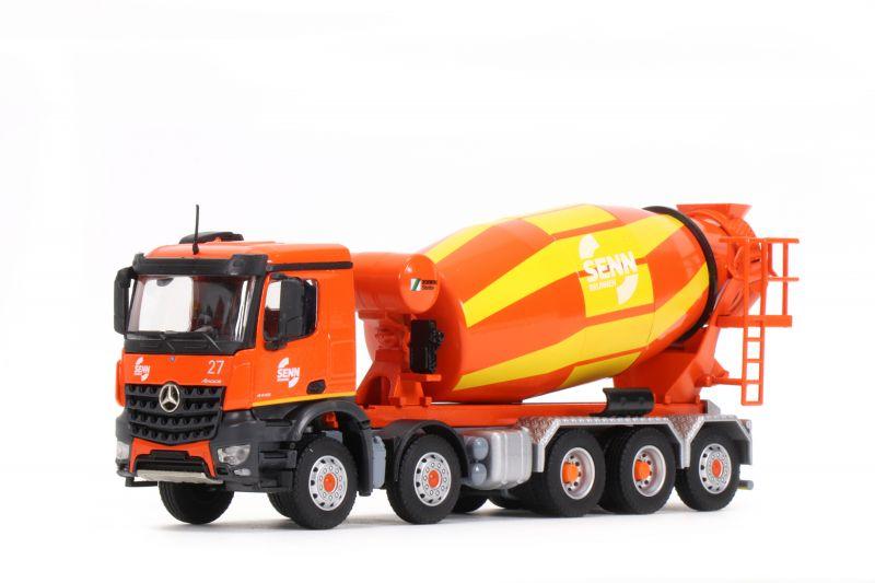 SCHWING-STETTER 5-axle truck mixer on MERCEDES-BENZ Arocs