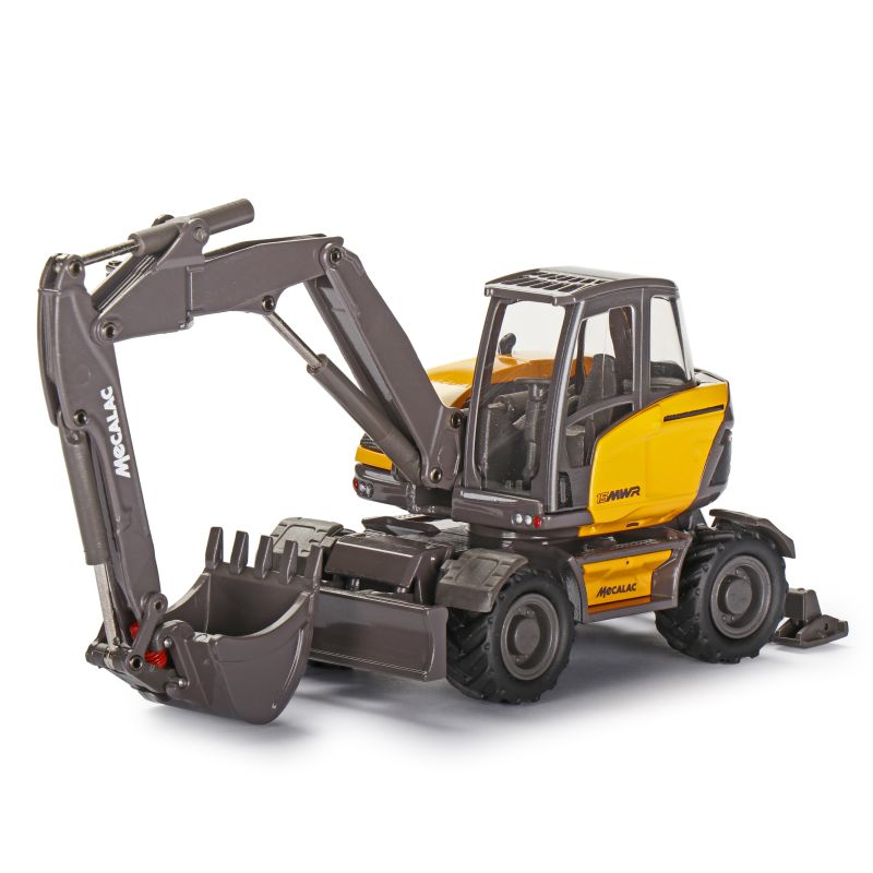 MECALAC 15MWR Wheel excavator with offset two-piece boom attachment