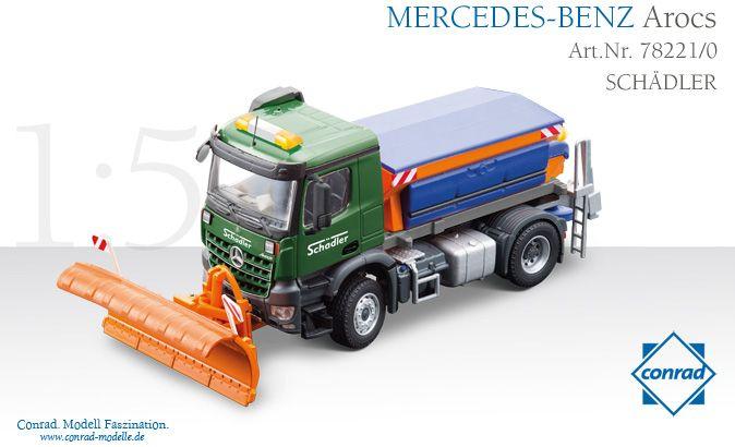 Streuaufbau mit Schneepflug auf MERCEDES-BENZ Arocs