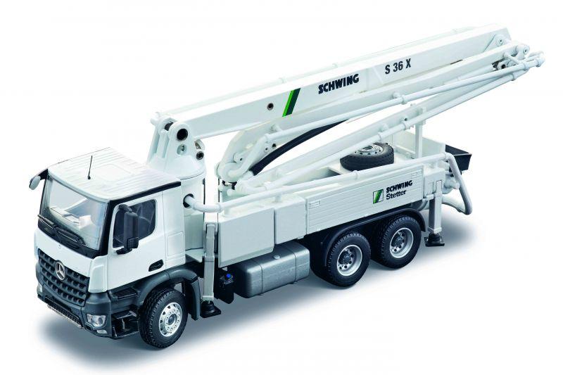 SCHWING S 36 X Concrete pump on MERCEDES-BENZ Arocs Compact Space 3-axle