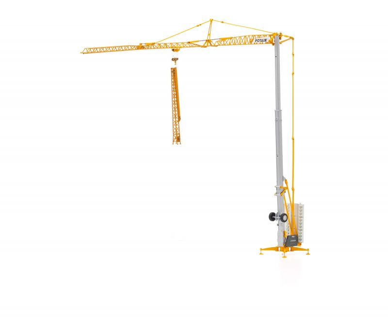 POTAIN Hup 32-27 Self erecting crane with rear dolly (truck trailer)